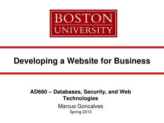 Developing a Website for Business