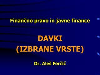 Finančno pravo in javne finance