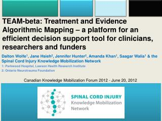 Canadian Knowledge Mobilization Forum 2012 - June 20, 2012