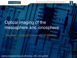 Optical imaging of the mesosphere and ionosphere