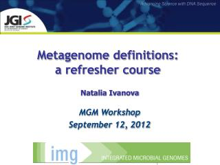 Metagenome definitions: a refresher course