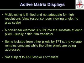 Active Matrix Displays