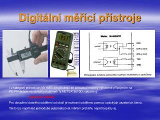 Digitální měřící přístroje