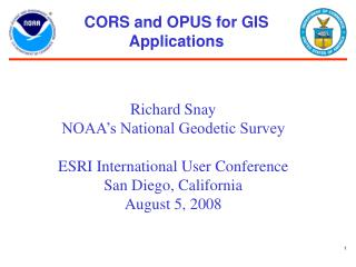 CORS and OPUS for GIS Applications