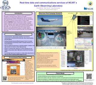 Real-time data and communications services of NCAR ' s Earth Observing Laboratory