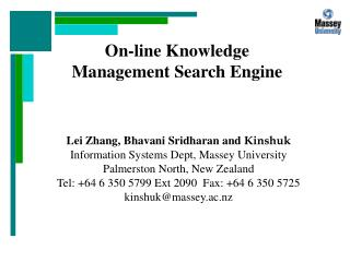 On-line Knowledge Management Search Engine