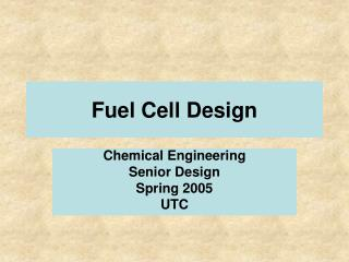 Fuel Cell Design