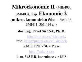 doc. Ing. Pavel Sirůček, Ph. D.
