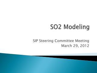 SO2  Modeling