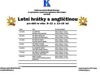 Knihovna města Mladá Boleslav ve spolupráci s jazykovou agenturou Elka Lingua pořádají