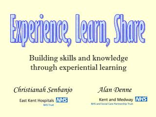 Building skills and knowledge through experiential learning