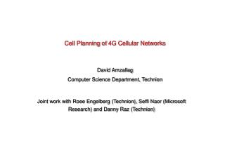 Cell Planning of 4G Cellular Networks