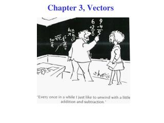 Chapter 3, Vectors