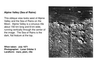 Alpine Valley (Sea of Rains)