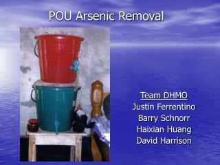 POU Arsenic Removal