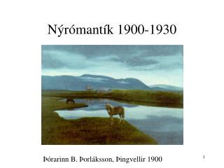 N r mant k 1900-1930