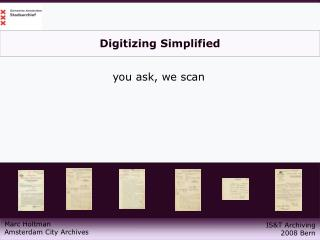 Digitizing Simplified