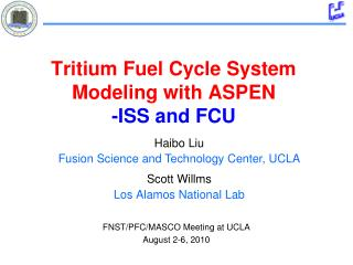 Tritium Fuel Cycle System Modeling with ASPEN -ISS and FCU