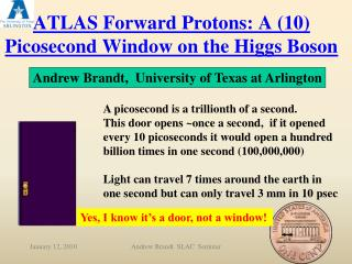 ATLAS Forward Protons: A (10) Picosecond Window on the Higgs Boson