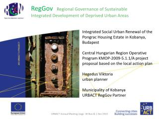 RegGov   Regional Governance of Sustainable Integrated Development of Deprived Urban Areas