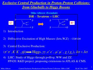 Exclusive Central Production in Proton-Proton Collisions: from Glueballs to Higgs Bosons