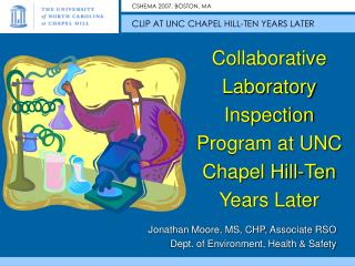 Collaborative Laboratory Inspection Program at UNC Chapel Hill-Ten Years Later