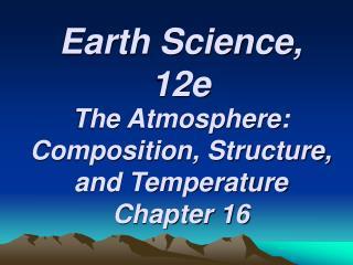Earth Science, 12e