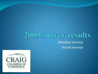 2009 survey results
