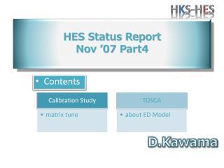 HES Status Report Nov  '07  Part4