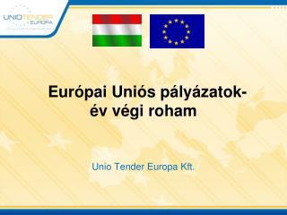 Európai Uniós pályázatok- év végi roham