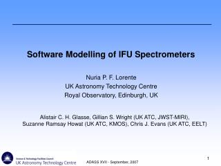 Software Modelling of IFU Spectrometers
