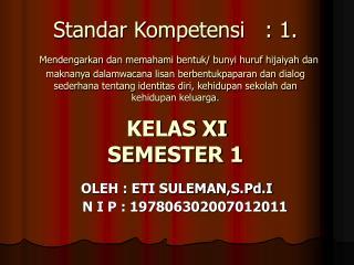 OLEH : ETI SULEMAN,S.Pd.I     N I P : 197806302007012011