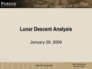Lunar Descent Analysis