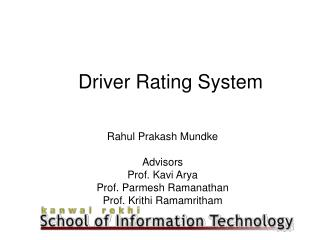 Driver Rating System