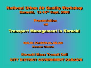 Transport Management in Karachi