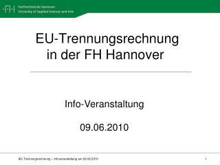 EU-Trennungsrechnung     in der FH Hannover
