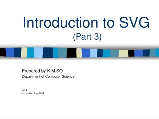 Introduction to SVG  (Part 3)