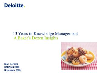 13 Years in Knowledge Management  A Baker's Dozen Insights