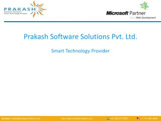 Prakash Software Solutions Pvt. Ltd. Smart Technology Provider