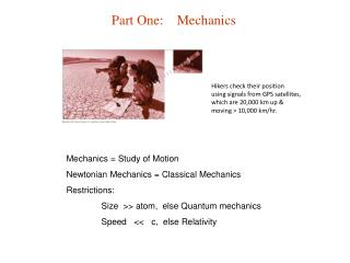 Part One:    Mechanics