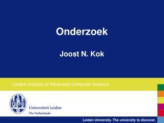 Onderzoek Joost N. Kok