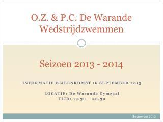 O.Z. & P.C. De Warande  Wedstrijdzwemmen