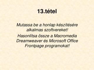 13.tétel