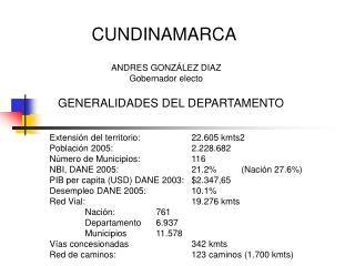 ANDRES GONZÁLEZ DIAZ Gobernador electo