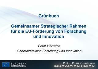 Grünbuch Gemeinsamer Strategischer Rahmen für die EU-Förderung von Forschung und Innovation