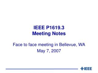 IEEE P1619.3 Meeting Notes