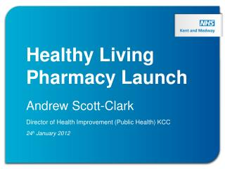 Healthy Living Pharmacy Launch Andrew Scott-Clark