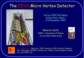 The  ZEUS  Micro Vertex Detector