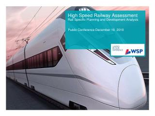 High Speed Railway Assessment Rail Specific Planning and Development Analysis