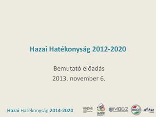Hazai Hat�konys�g 2012-2020